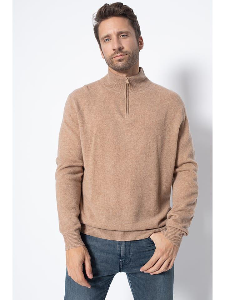 """Kaszmirowy sweter """"Bradley"""" w kolorze karmelowym"""
