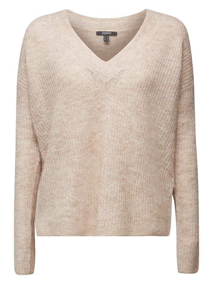 ESPRIT Sweter w kolorze beżowym