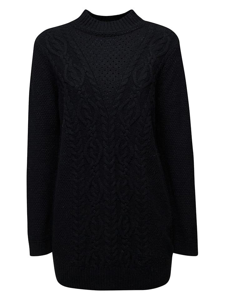 ESPRIT Sweter w kolorze czarnym