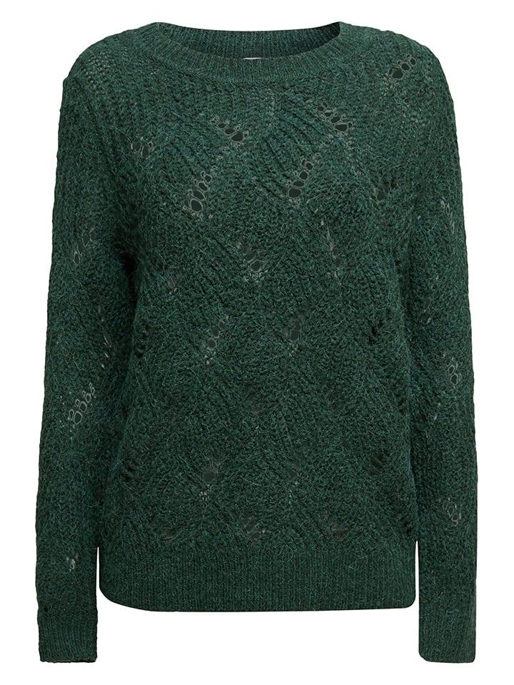 ESPRIT Sweter w kolorze ciemnozielonym