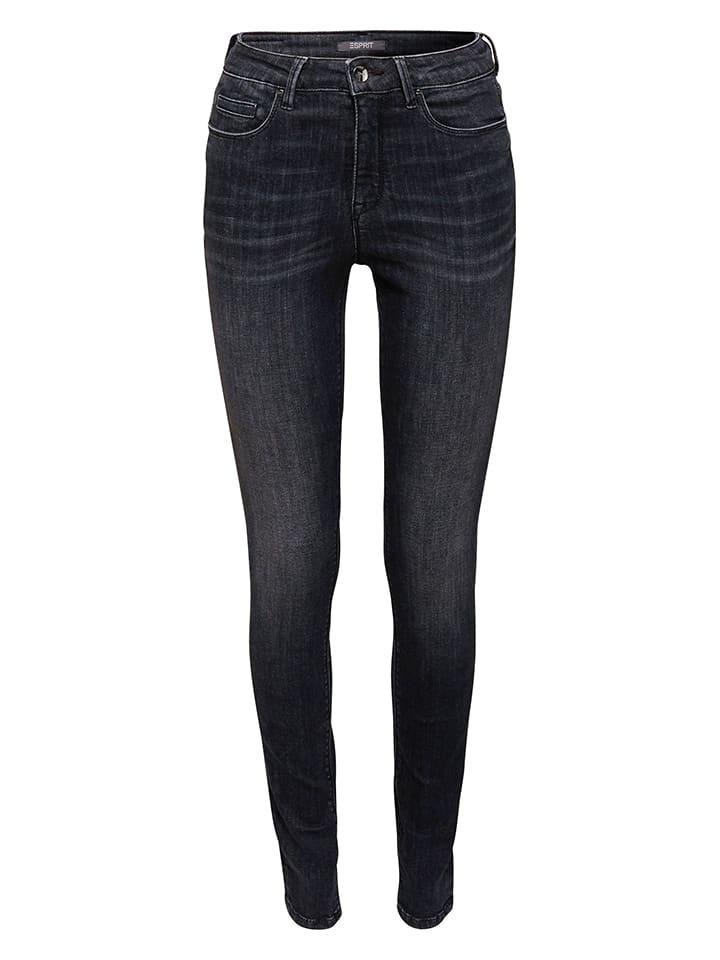 ESPRIT Dżinsy - Skinny fit - w kolorze czarnym