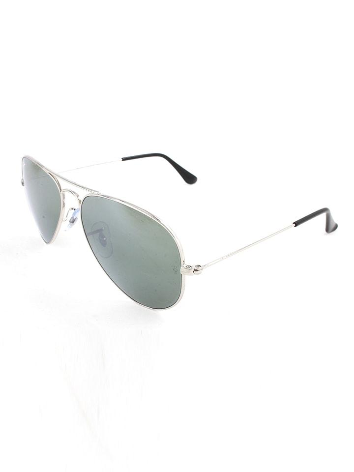 """Ray Ban Herren-Sonnenbrille """"Aviator"""" in Silber-Schwarz/ Grau"""