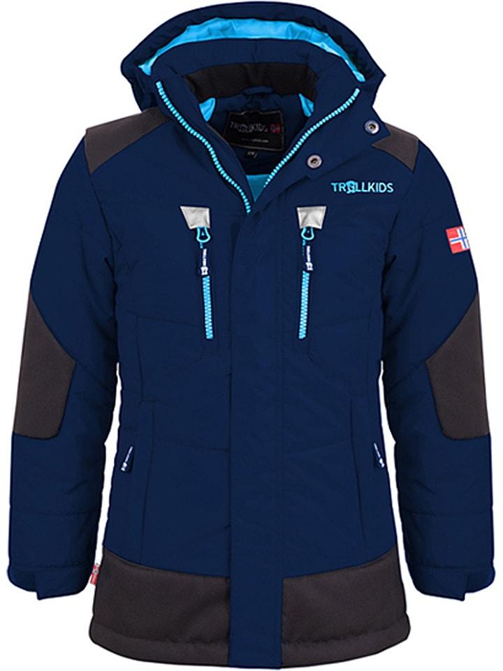 "Trollkids Winterjas ""Narvik"" donkerblauw/zwart"