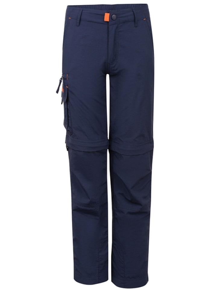 Trollkids Spodnie trekkingowe Zip-off - Slim fit - w kolorze granatowym
