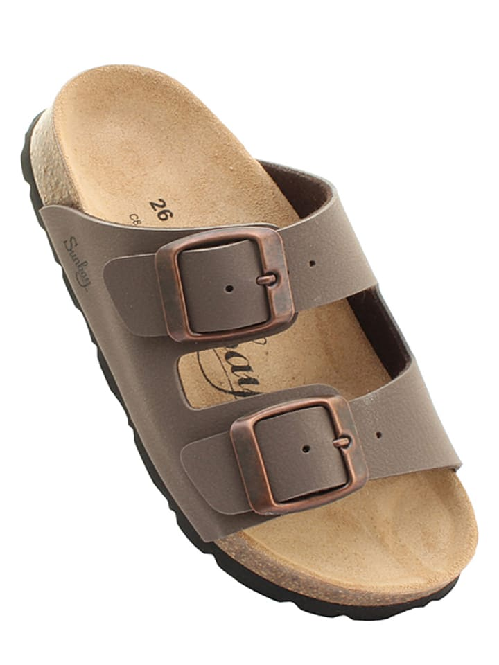 """Slippers """"Trefle"""" bruin"""