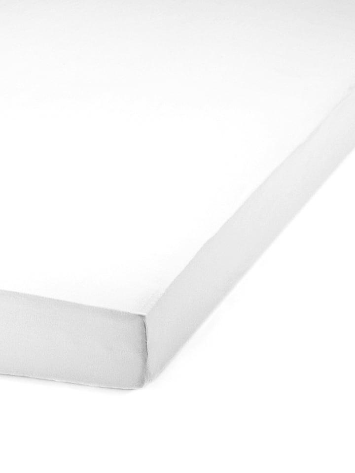 Schiesser Mako-Jersey-Spannbettlaken in Weiß