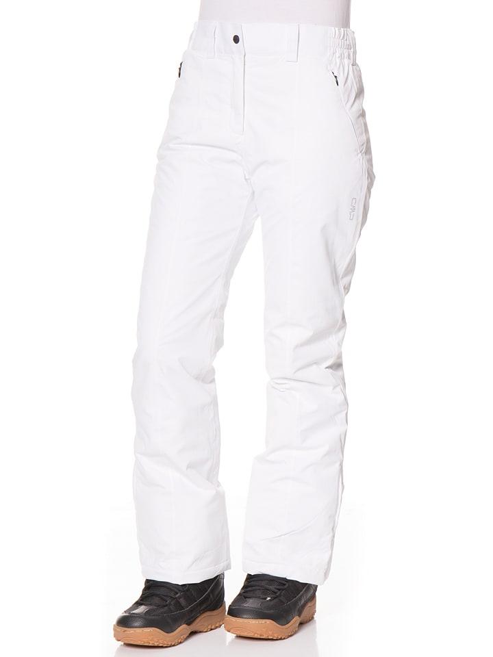 Spodnie narciarskie w kolorze białym