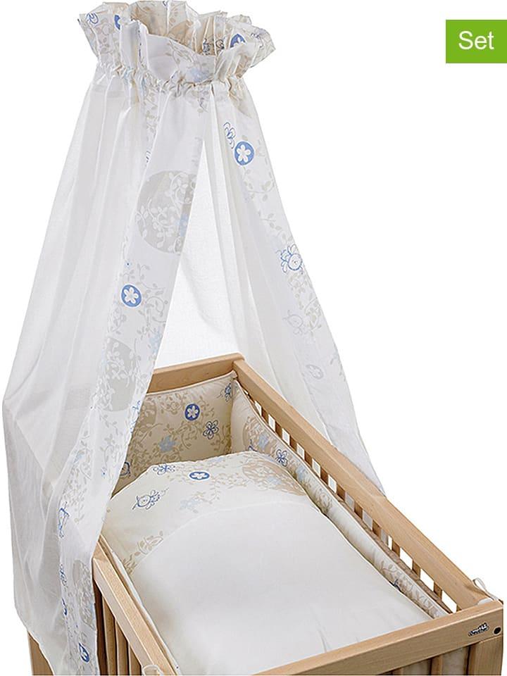 Geuther 3tlg. Wiegen-Bettset in Weiß