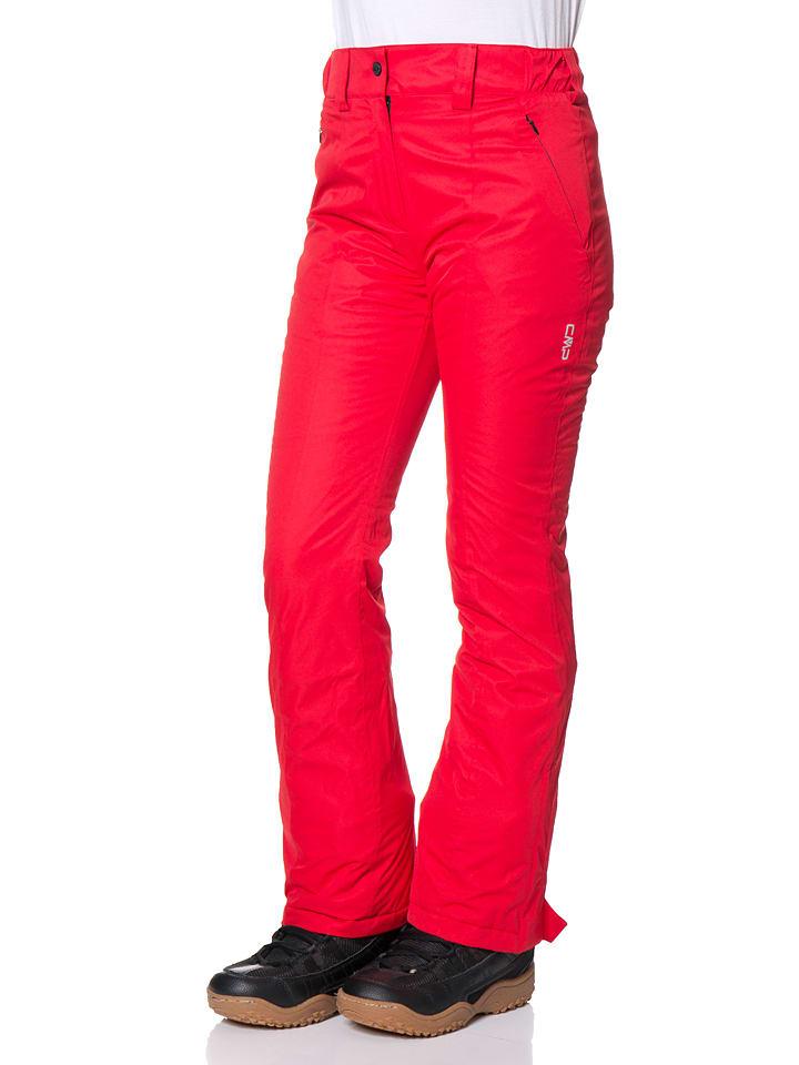 CMP Spodnie narciarskie w kolorze czerwonym