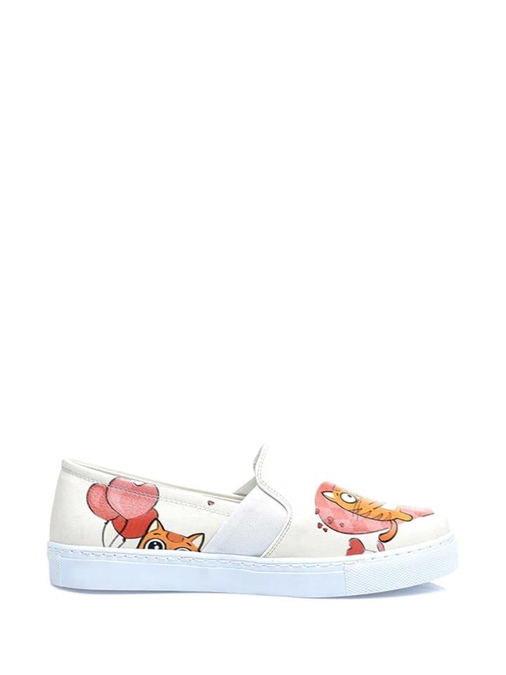 Streetfly Slippersy w kolorze kremowym