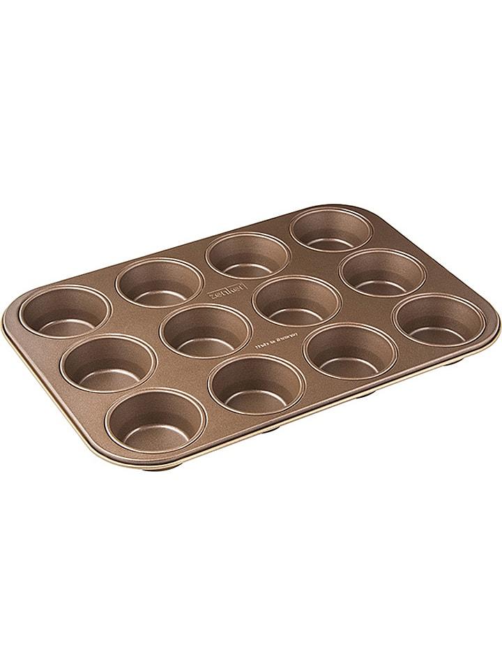 """Muffin-Backblech """"Mojave Gold"""" in Braun/ Gold - (B)38,5 x (T)26,5 cm"""