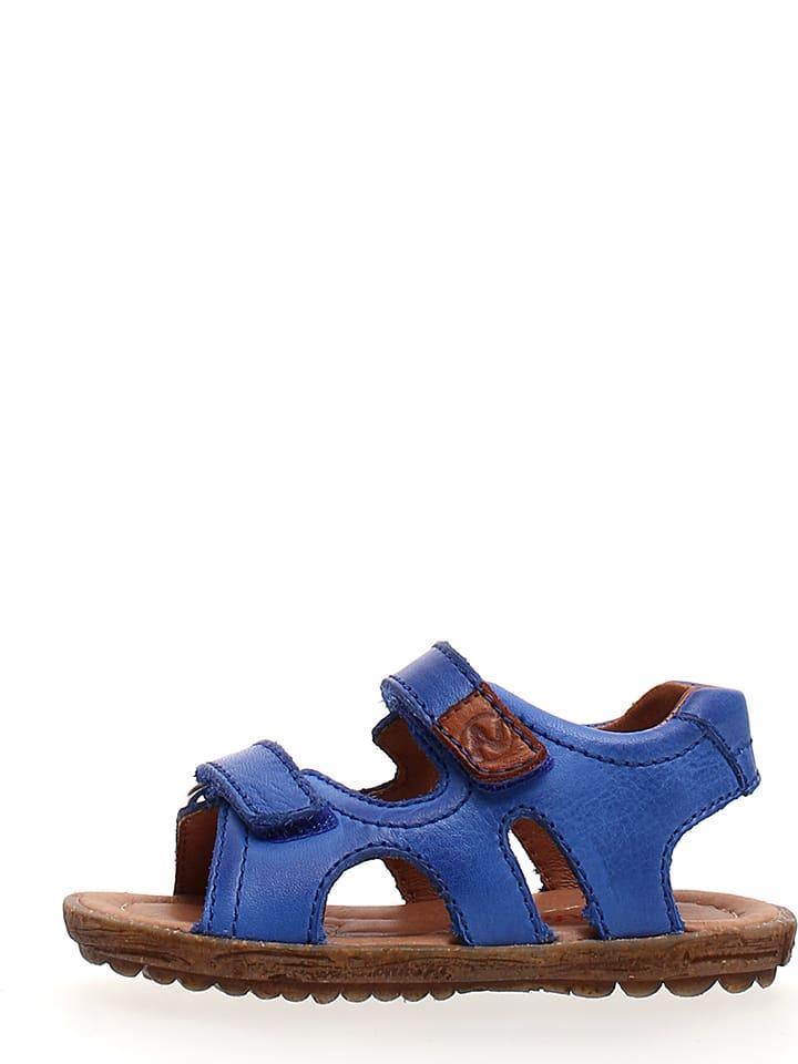 Naturino Skórzane sandały w kolorze niebieskim