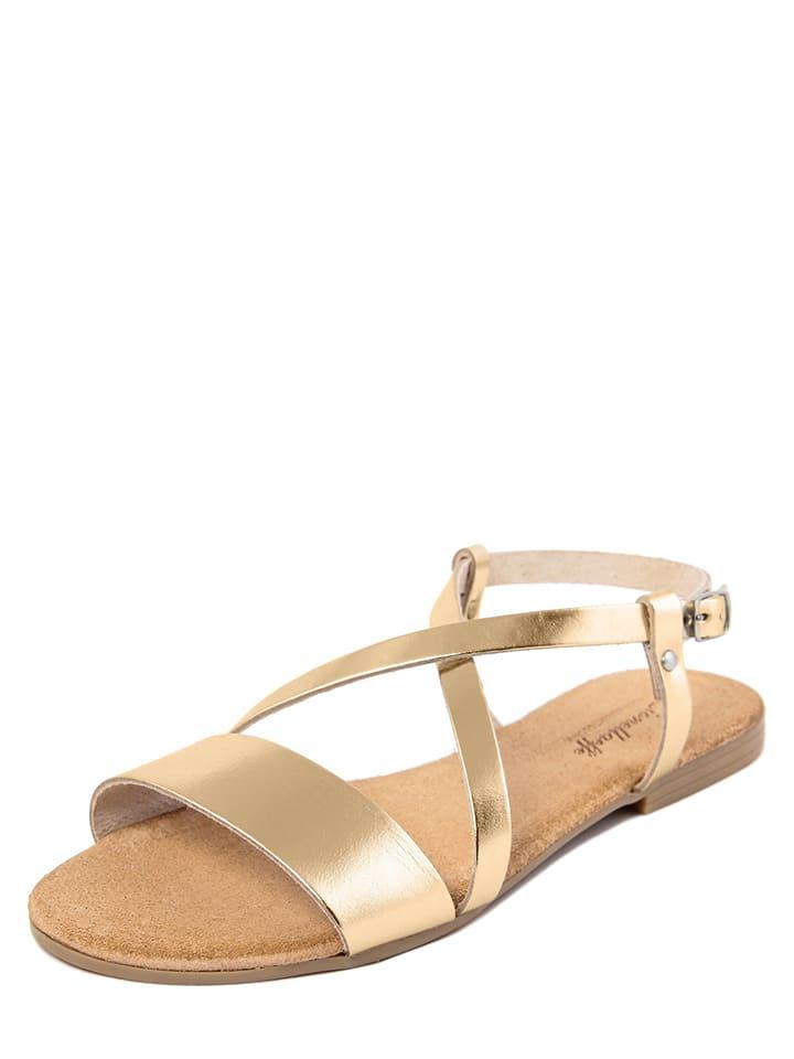 Lionellaeffe Leren sandalen goudkleurig