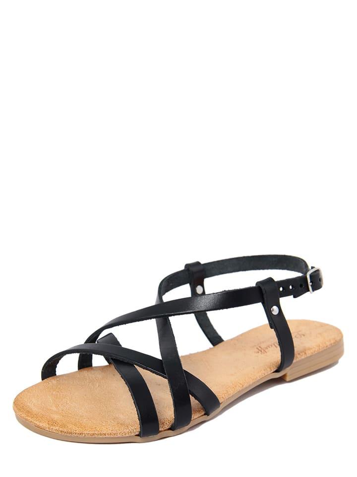 Lionellaeffe Leren sandalen zwart