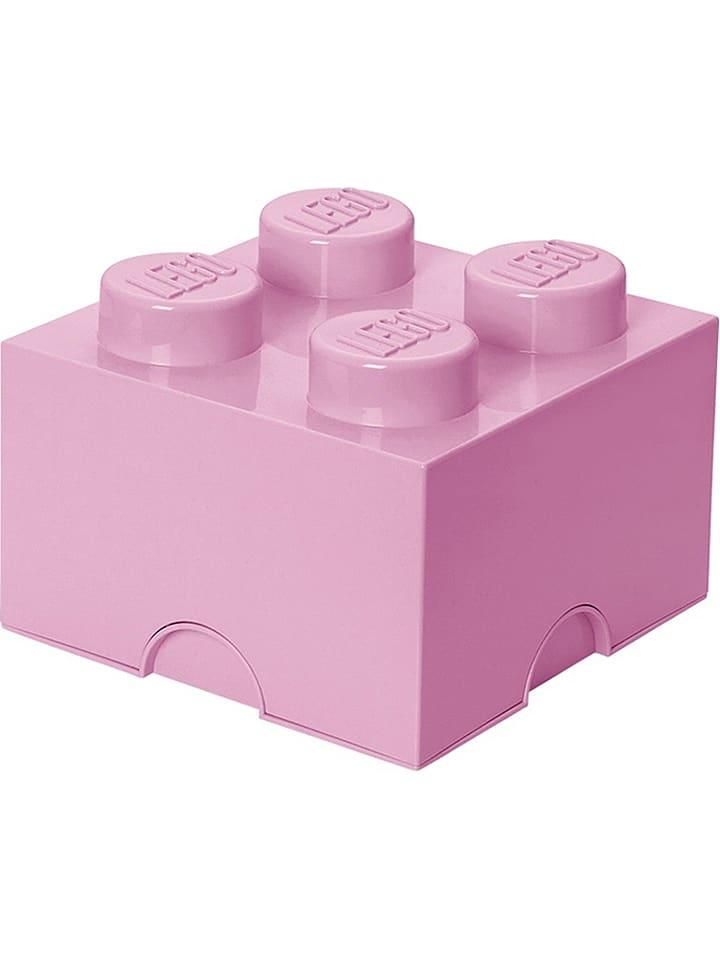 "LEGO Opbergbox ""Brick 4"" lichtroze - (B)25 x (H)18 x (D)25 cm"