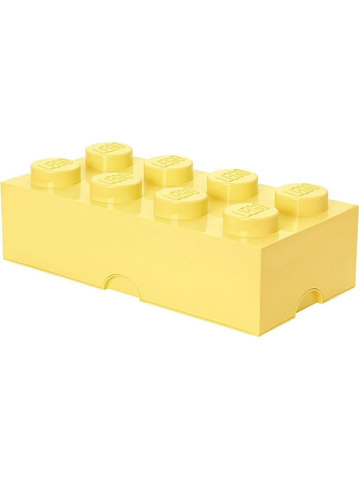 "LEGO Opbergbox ""Brick 8"" lichtgeel - (B)50 x (H)18 x (D)25 cm"