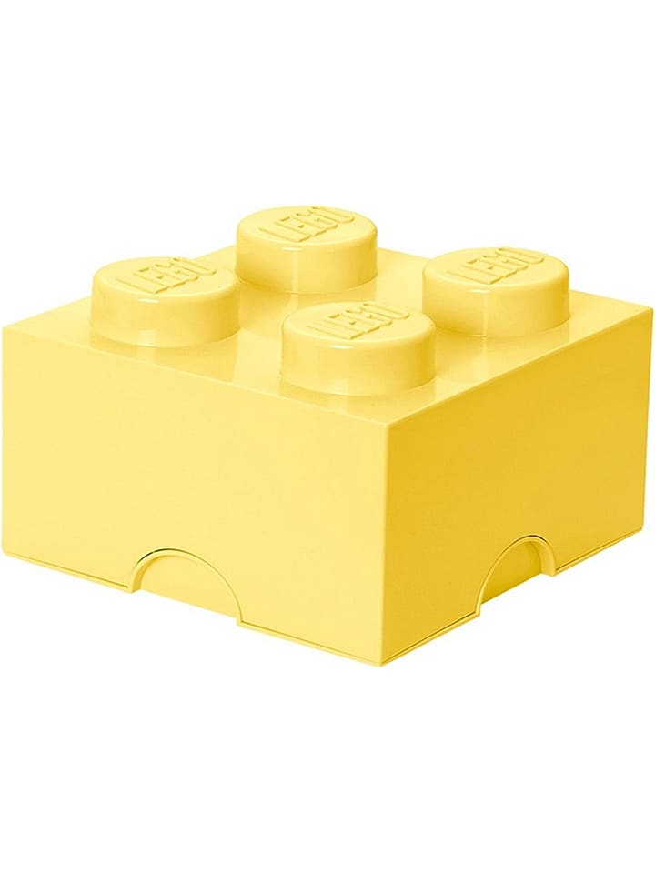 "LEGO Opbergbox ""Brick 4"" lichtgeel - (B)25 x (H)18 x (D)25 cm"