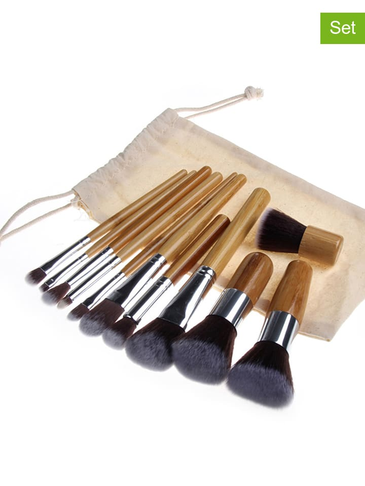 "12tlg. Make-up-Pinsel-Set: ""Professional"" in Beige"