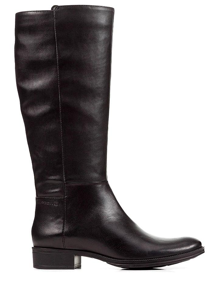 "Geox Leren laarzen ""Laceyin"" zwart"