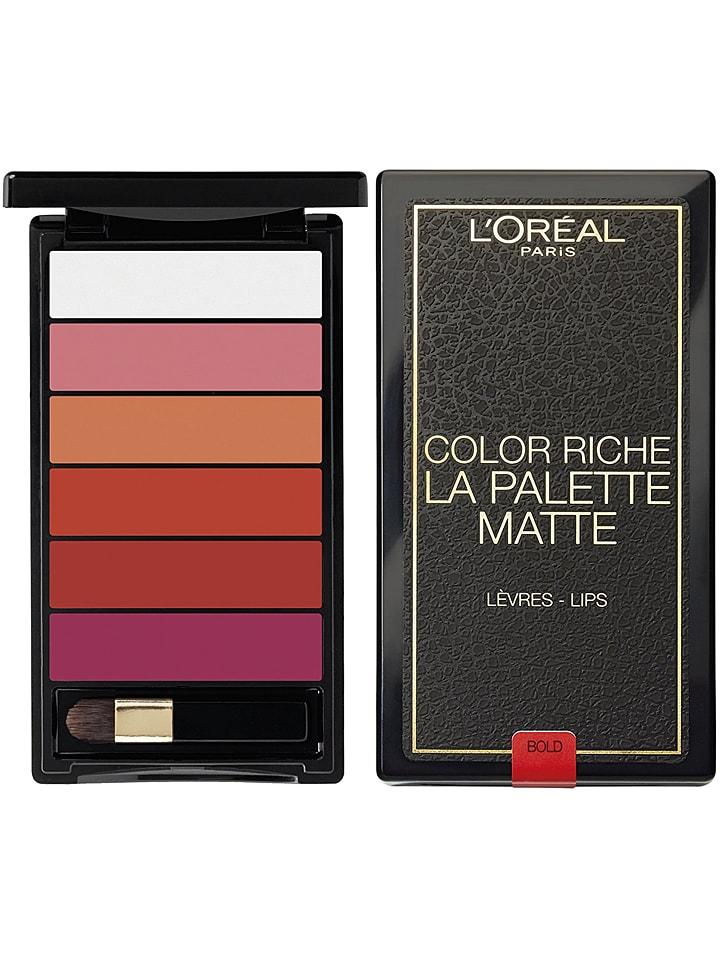 """L'Oréal Paris Lippenpalette """"Color Riche La Palette Matte - Matte Bold"""", 6 g"""