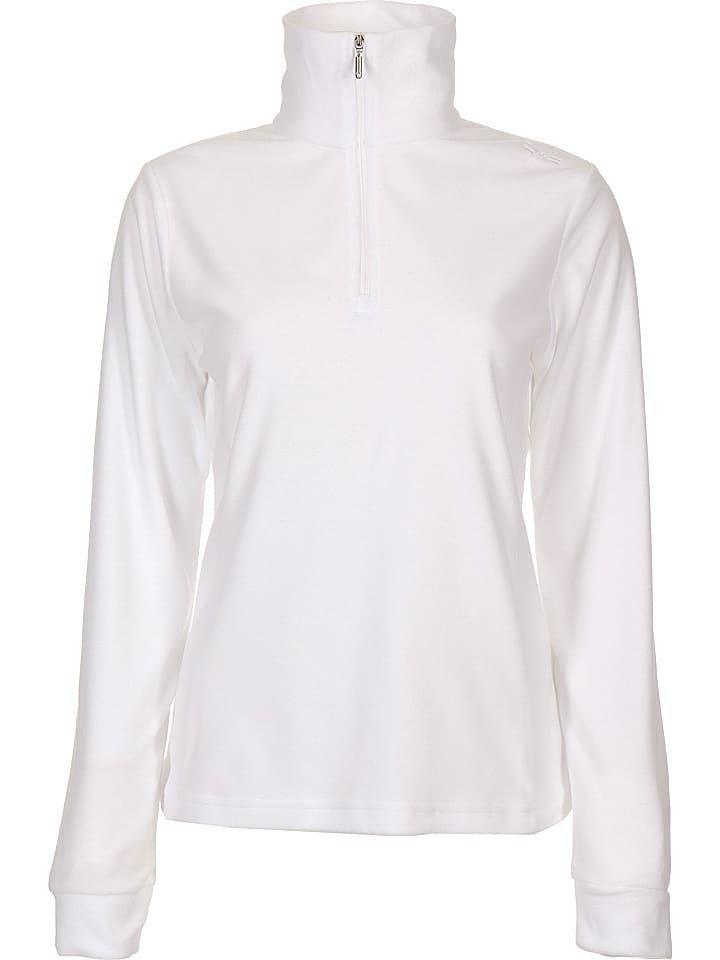Fleece trui wit