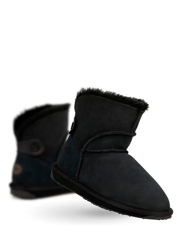 "Leder-Winterboots ""Alba Mini"" in Schwarz"
