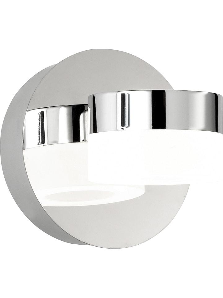"""WOFI Ścienna lampa LED """"Luce - Spa Line"""" w kolorze srebrnym - Ø 12 cm"""