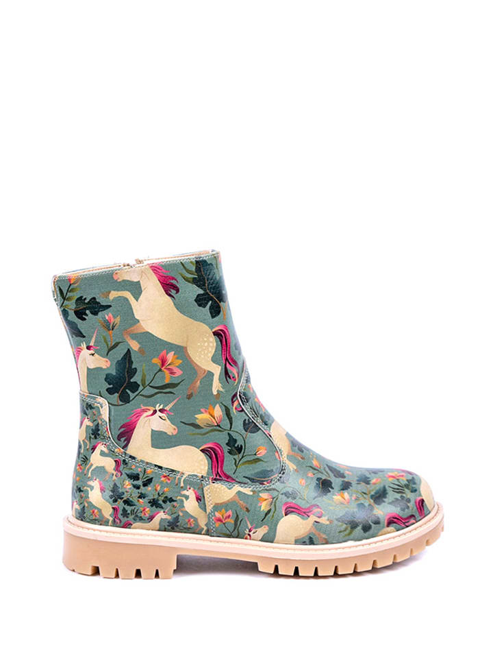 Boots in Grün/ Bunt