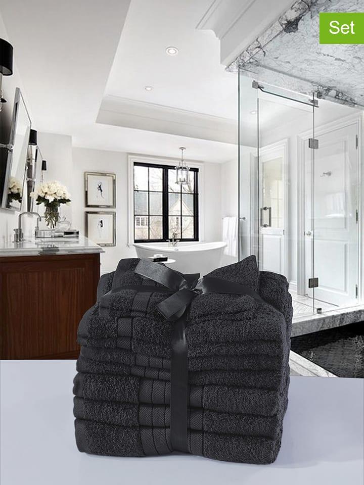 4-delige set: handdoeken antraciet