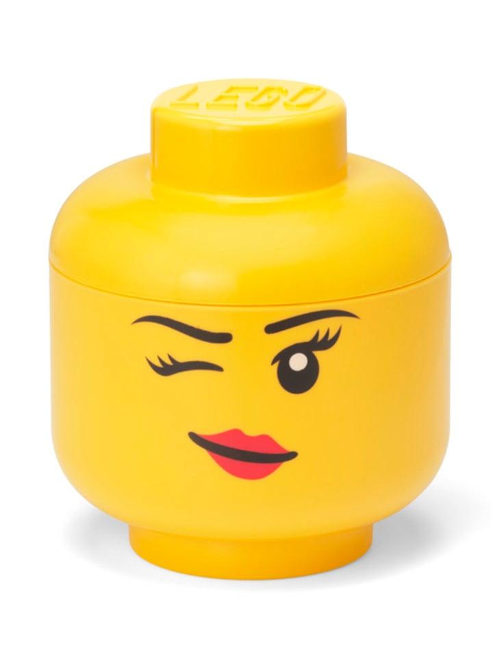 "LEGO Opbergbox ""Whinky"" geel - (H)18,5 x Ø 16 cm"