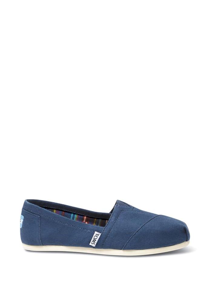 TOMS Slippersy w kolorze niebieskim