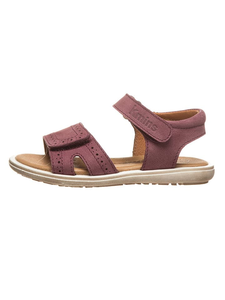 Kmins Leren sandalen lila