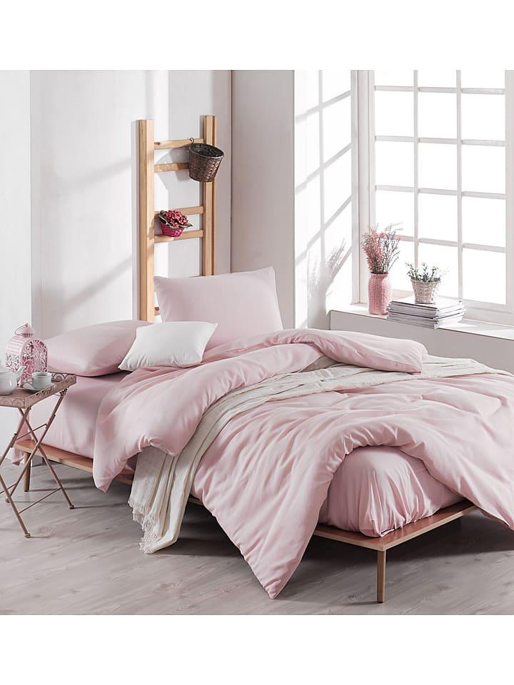 """Colourful Cotton Beddengoedset """"Paint"""" lichtroze"""