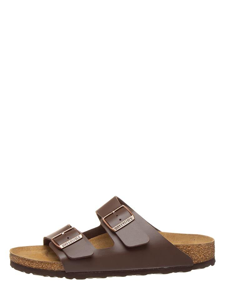 """Birkenstock Slippers """"Arizona"""" bruin - wijdte S"""