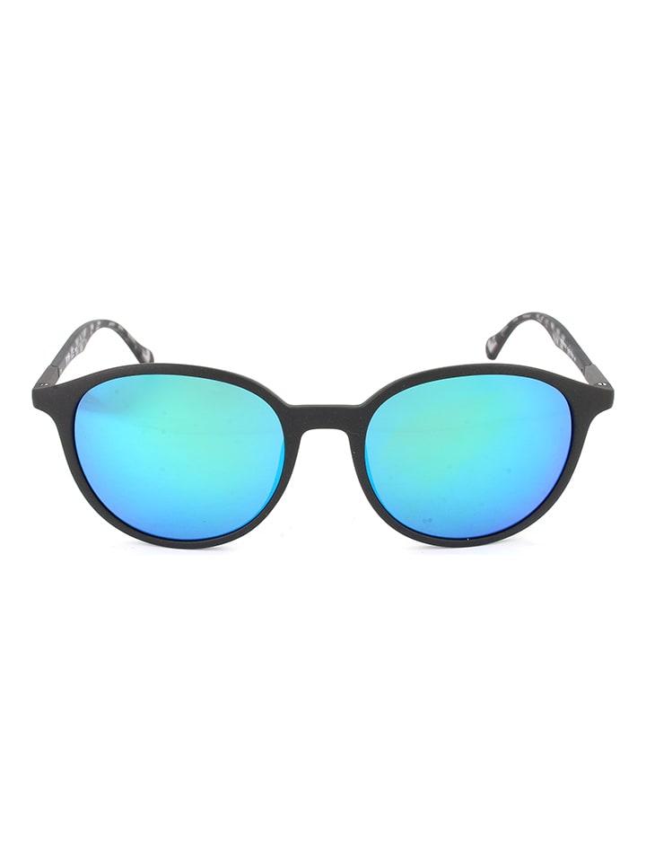 Hugo Boss Męskie okulary przeciwsłoneczne w kolorze niebiesko-szaro-czarnym