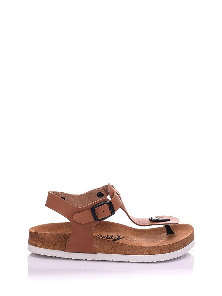 Moosefield Skórzane sandały w kolorze brązowym