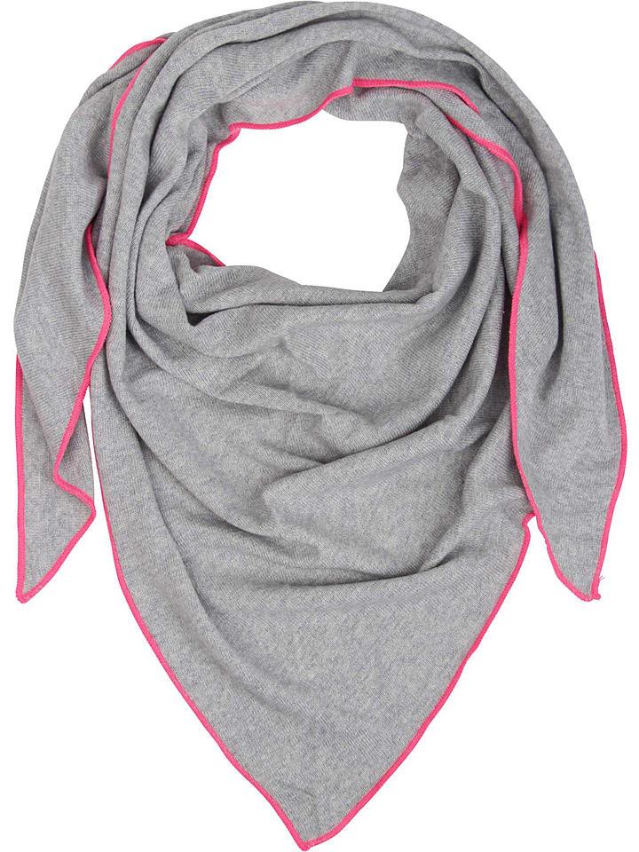 Tuch in Hellgrau/ Pink - (L) 150 x (B) 120 cm