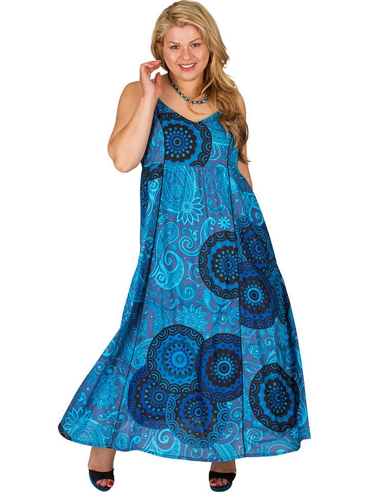 Aller Simplement Kleid in Blau/ Hellblau günstig kaufen ...