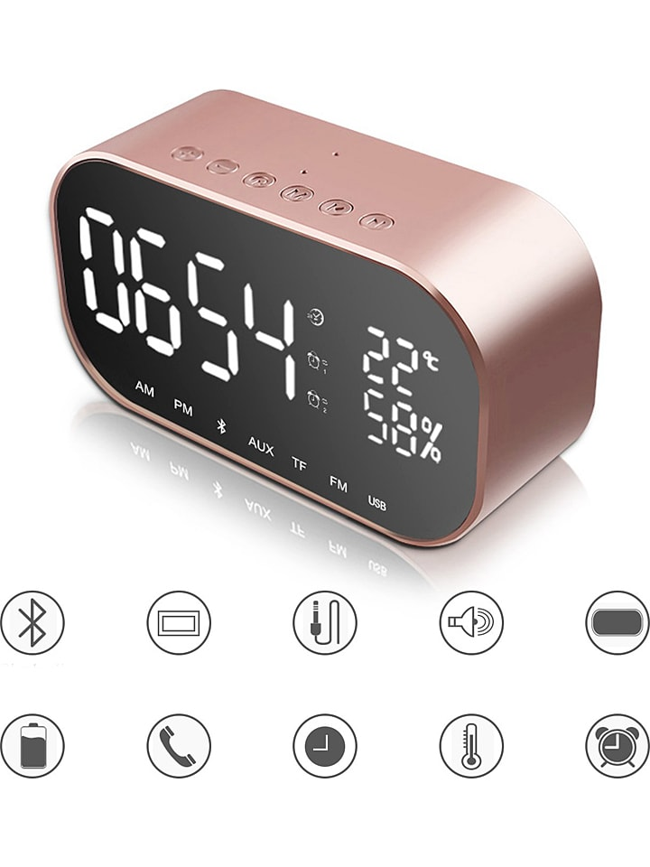 SmartCase Bluetooth-Radiowecker in Rosé