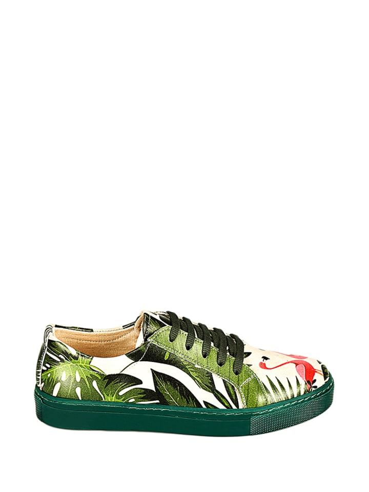 Sneakers in Beige/ Grün