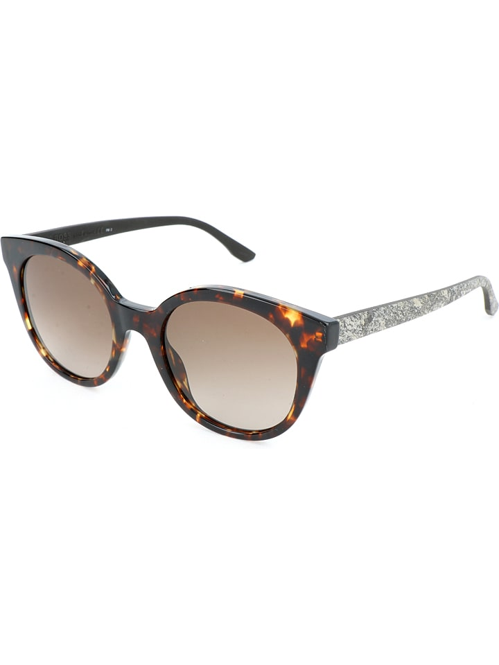 Hugo Boss Damen-Sonnenbrille in Braun-Grau