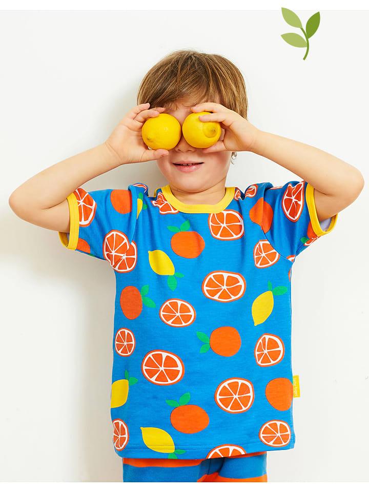 Toby Tiger Koszulka w kolorze niebiesko-pomarańczowo-żółtym
