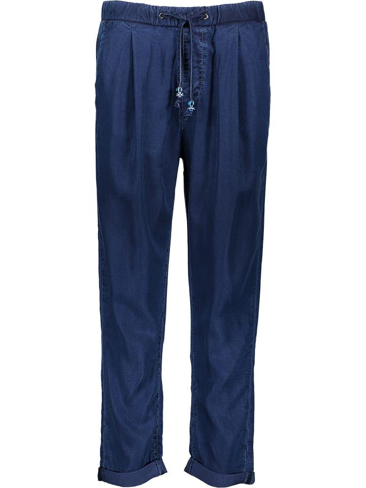 """Pepe Jeans Spodnie """"Donna Blue"""" - Tapered fit - w kolorze granatowym"""