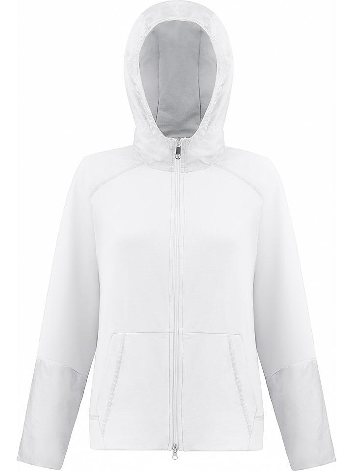 Poivre Blanc Sweatjacke in Weiß