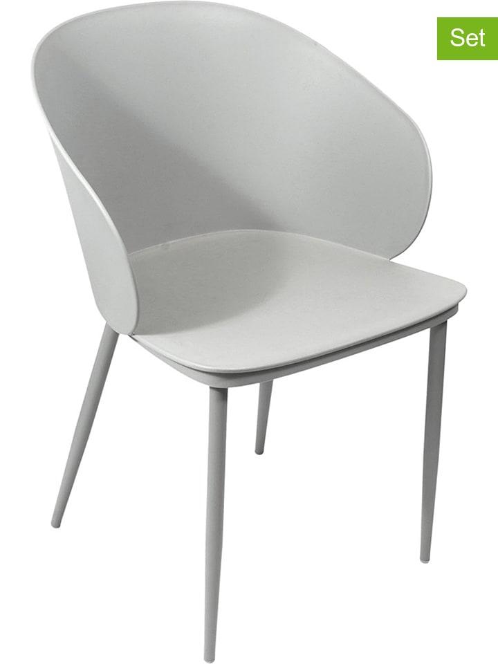"""Garden Spirit 4er-Set: Esszimmerstühle """"Alison"""" in Grau - (B)55,5 x (H)80,5 x (T)55 cm"""