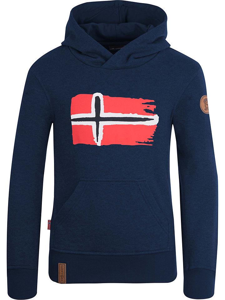 """Trollkids Sweatshirt """"Trondheim"""" in Dunkelblau"""