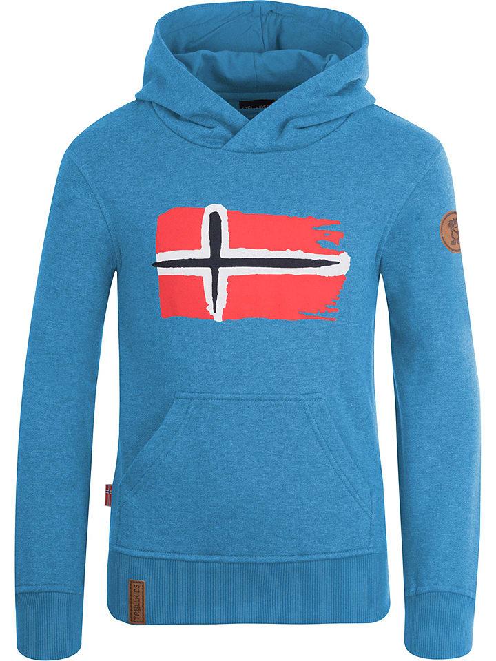 """Trollkids Hoodie """"Trondheim"""" in Blau"""