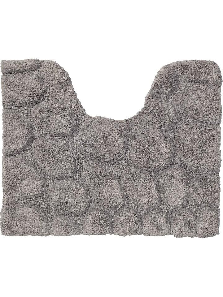 "Sealskin WC-Vorleger ""Pebbles"" in Grau - (L)60 x (B)50 cm"