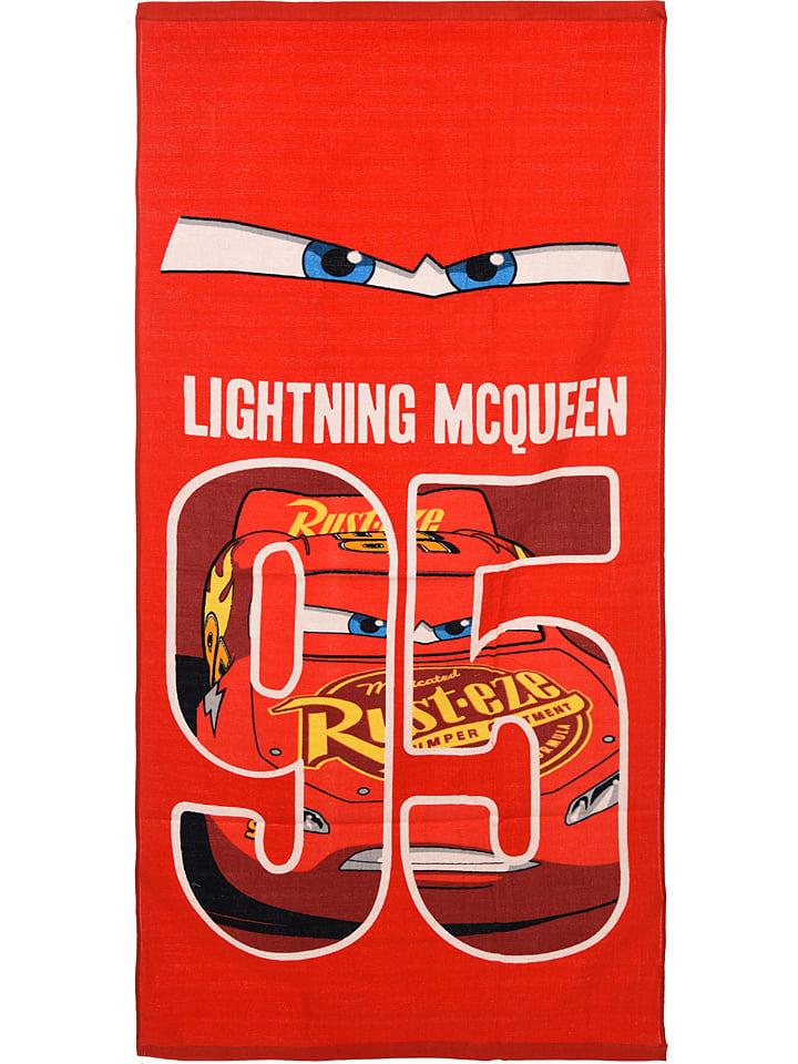 """Disney Cars Ręcznik plażowy """"Cars"""" w kolorze czerwonym - 140 x 70 cm"""