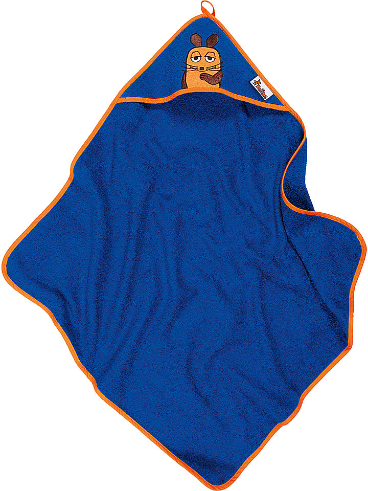 Playshoes Ręcznik w kolorze niebieskim z kapturem